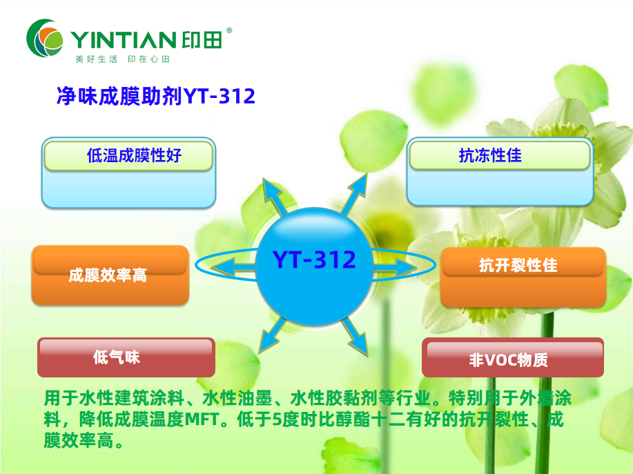 水性净味成膜助剂YT-312