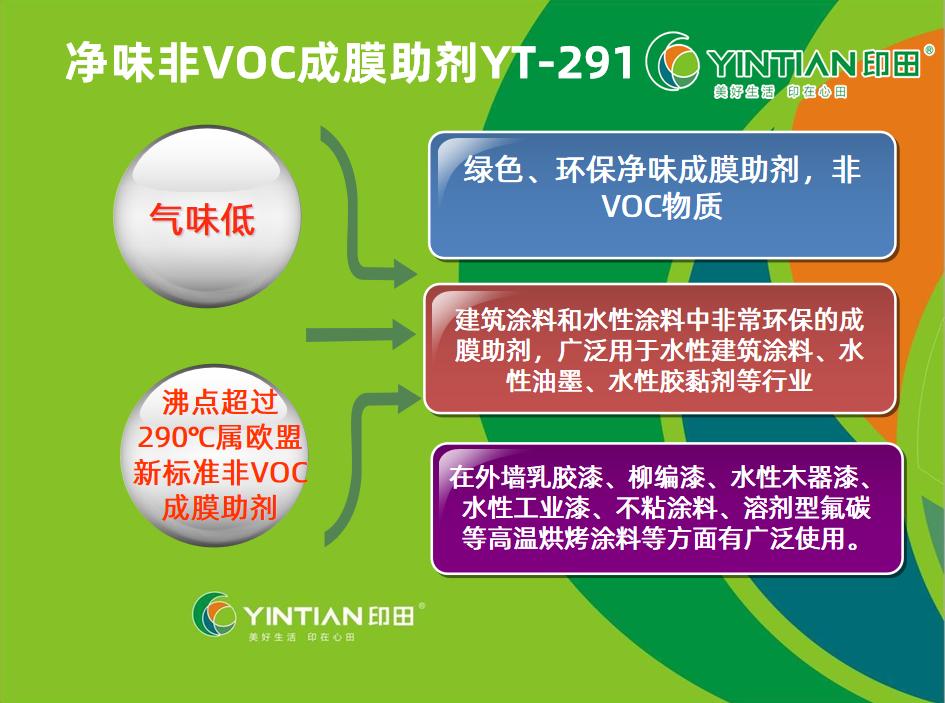 水性净味非VOC成膜助剂YT-291